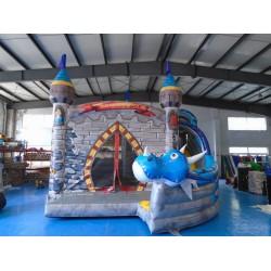Castelo Inflável Do Dragão Com Tobogã