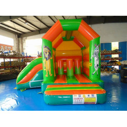 Tobogã Bouncy Inflável Da Selva